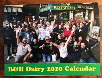 B&H 2020 calendar (front)