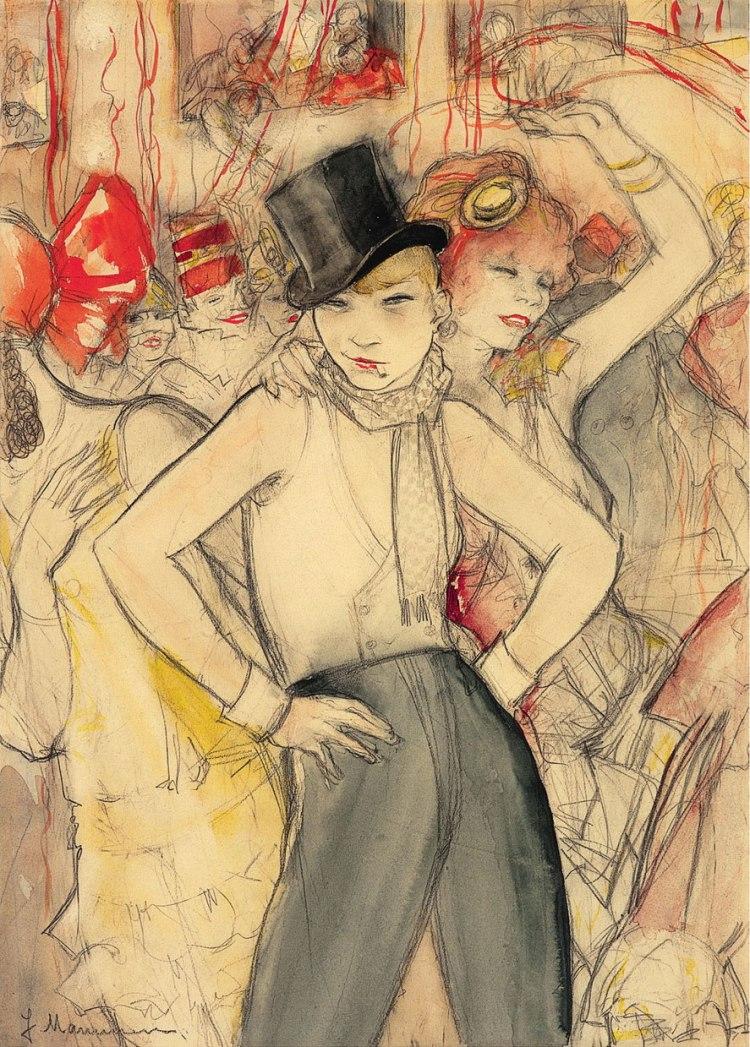 Jeanne-Mammen-(1890–1976),-Sie-representiert,-ca.-1928