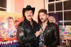 Emrhys Cooper with man about town Randy Jones of The Village People. Photo by Matthew Rettenmund.