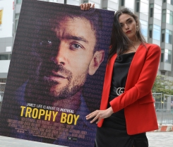 "Actress and influencer Sofia Belhouari of Incline Productions, which, with Emrhys Cooper's EmCo Productions, produced ""Trophy Boy."" @sofiabelhouari"