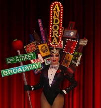 "Andora Te'tee competing in Miss Gay New York America 2018 last March. The theme was ""Broadway."""
