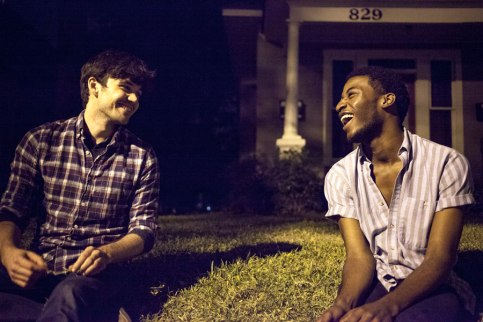 "Jordan Nichols (Billy) and Tristan Andre Parks (Hart) in ""Feral"" Photo by Breezy Lucia"