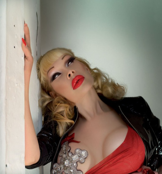"Amanda Lepore. Worked her ""Fierce Pussy"" EP for Peace Bisquit."