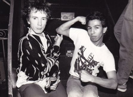 Who The Fuck Is That Guy? Did press for screennings of this documentary about music industry legend and photographer Michael Alago. Pictured: Michael Alago with John Lydon 1981 by Laura Levine.