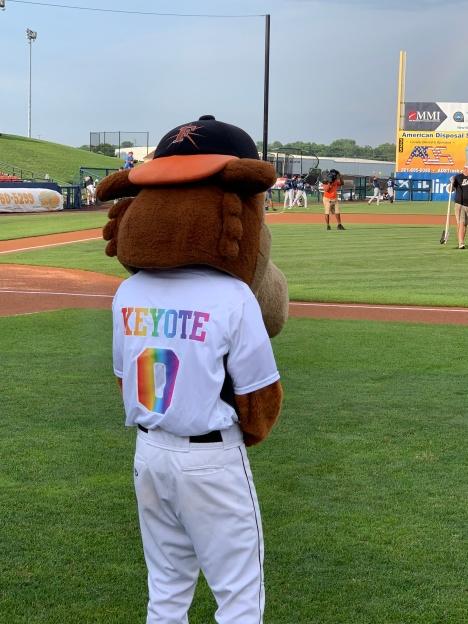 Frederick Keys mascot Keyote.