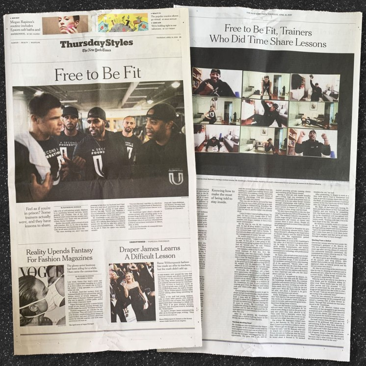 April 14, 2020 New York Times Styles cover story on the A Second U Foundatoin