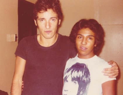With Bruce Springsteen, 1976 (Photo courtesy of Michael Alago)
