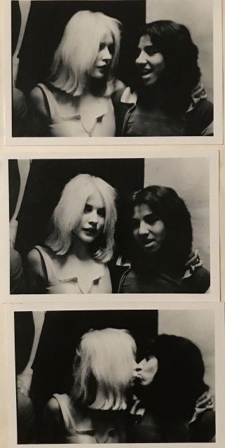 Kissing Debbie Harry backstage at Max's Kansas City, New York City, 1977. (Photo courtesy of Michael Alago)