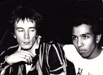 With John Lydon at The Ritz, New York City, May, 1981. (Photo courtesy of Pat Kepic)