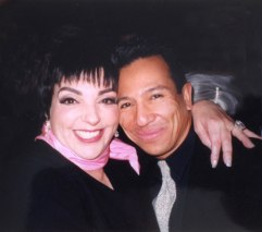 "With Liza Minnelli at the opening of ""Minnelli on Minnelli,"" at the Palace Theater, New York City, 1999. (Photo courtesy of Michael Alago)"