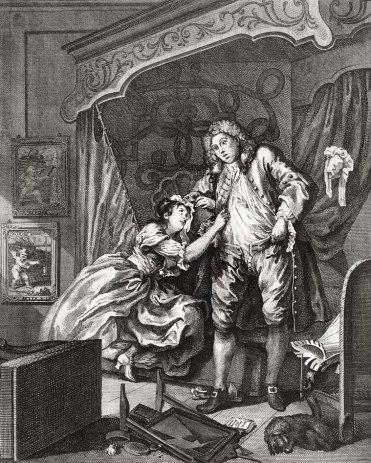 """William Hogarth, """"After,"""" 1730-1."""