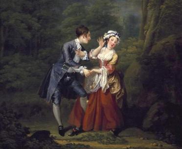 """William Hogarth, """"Before,"""" 1730-1."""