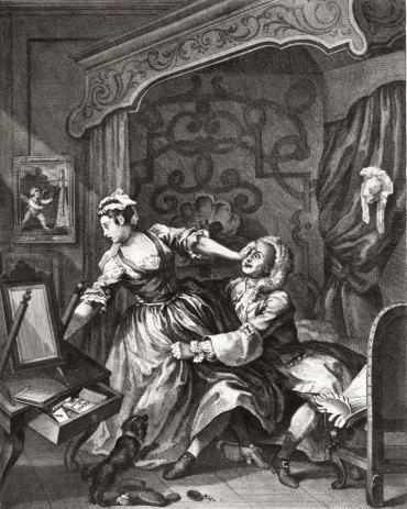 """William Hogarth, """"Before"""", 1730-1."""