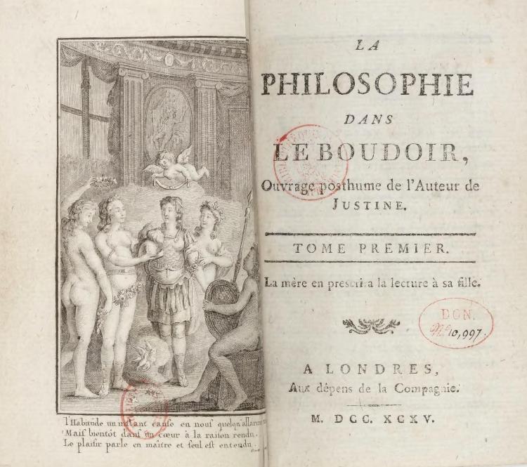 Sade_-_Philosophie_dans_le_boudoir,_Tome_I_titre_1795