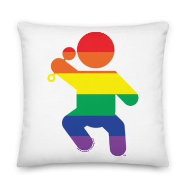 The I Was Born This Way throw pillow available at www.iwasbornthisway.com